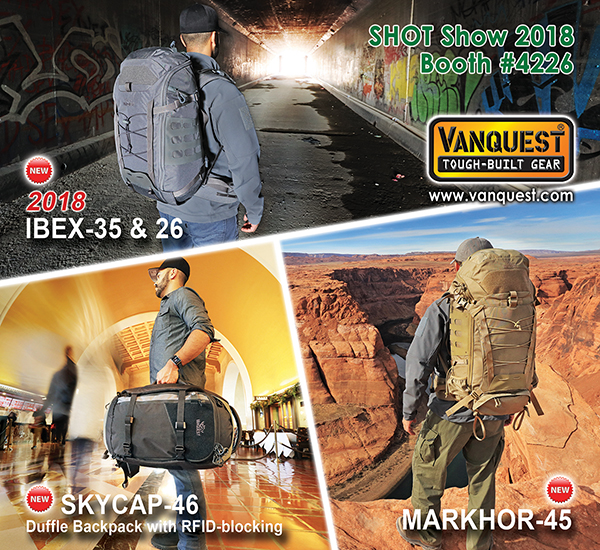 VANQUEST Debuts New Gear @ 2018 SHOT Show